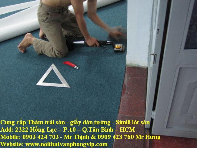 Thi công thảm trải sàn giá rẻ, lắp đặt thảm tòa nhà cao ốc HCM