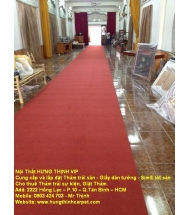 Công trình thi công thảm trải hội nghị Chù Phổ Quang>