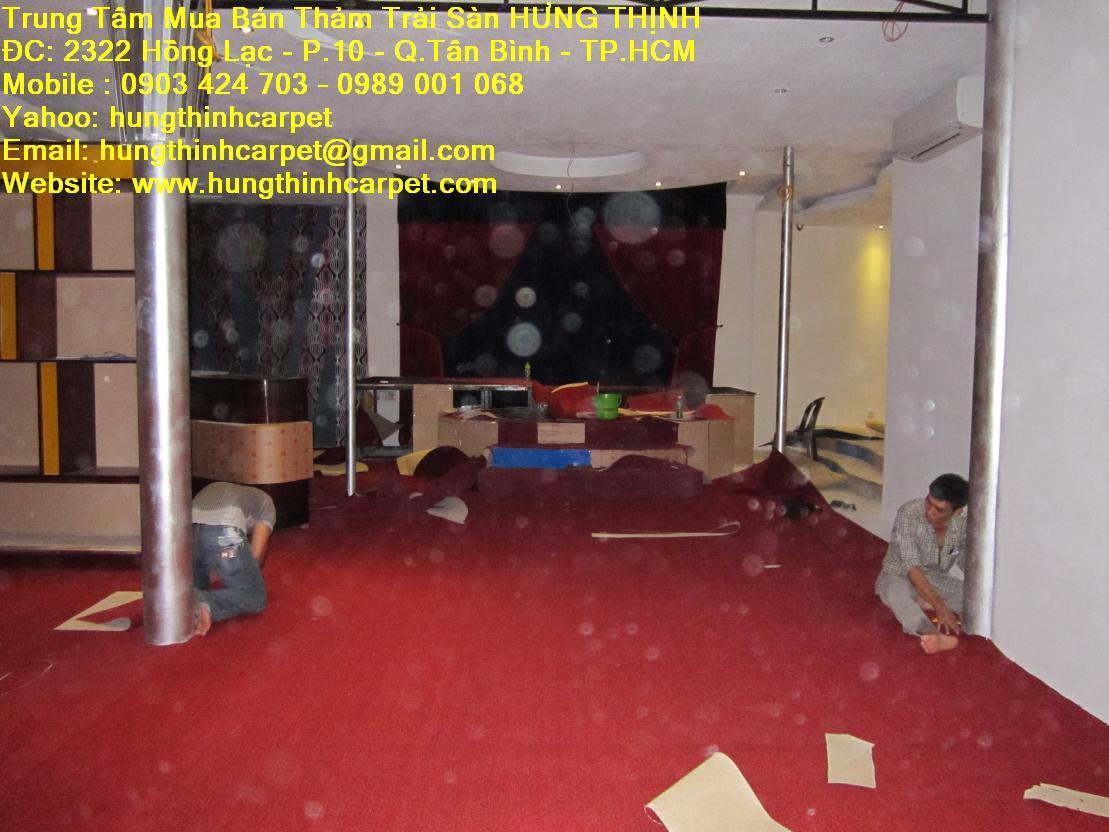 Cung cấp thi công thảm trải quán cafe Q.Bình Thạnh