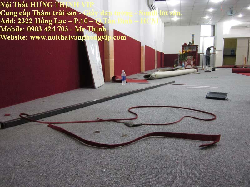 Thi công thảm trải clb bida, tại Q.Tân Bình, TP.HCM