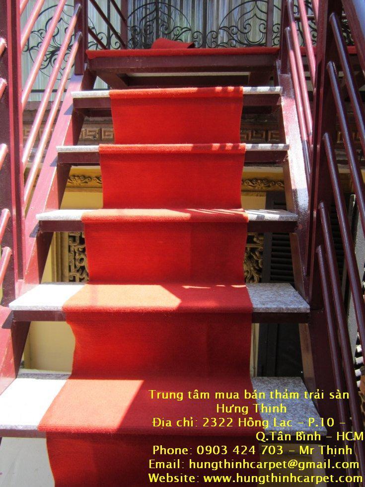 Công trình trải thảm cầu thang chùa khuông việt