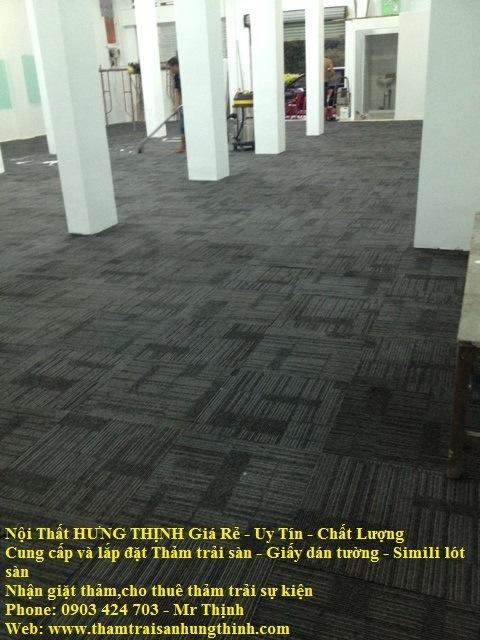 Thảm tấm, gạch 50x50 đế cao su clb thể hình Q.10
