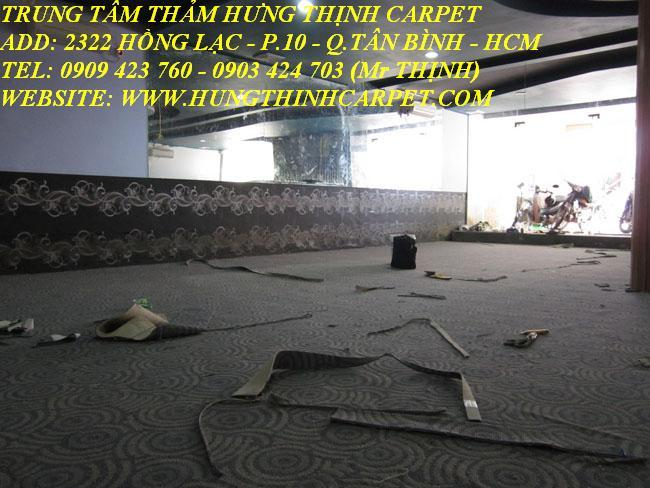 Bán và thi công thảm trải clb bida ở tại Q.11, TP.HCM
