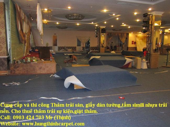 Công trình thi công thảm trải sàn, nhà hàng tiệc cưới Tỉnh Cần Thơ
